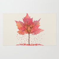 fall Area & Throw Rugs featuring Fall by Dan Hess