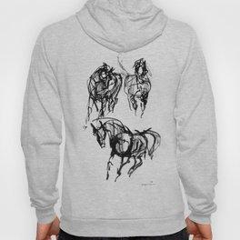 Horse (Trio Vertical Composition) Hoody