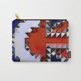 Mark Edz RAF/Union Jack Flag Combo in Mosaic Cartoon Carry-All Pouch