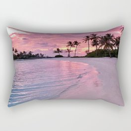 SUNSET AND PALM TREES Rectangular Pillow