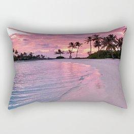 SUNSET AND PALM TREES Rectangular Pillow
