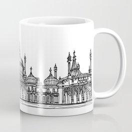 Brighton Royal Pavilion Facade Drawing Coffee Mug