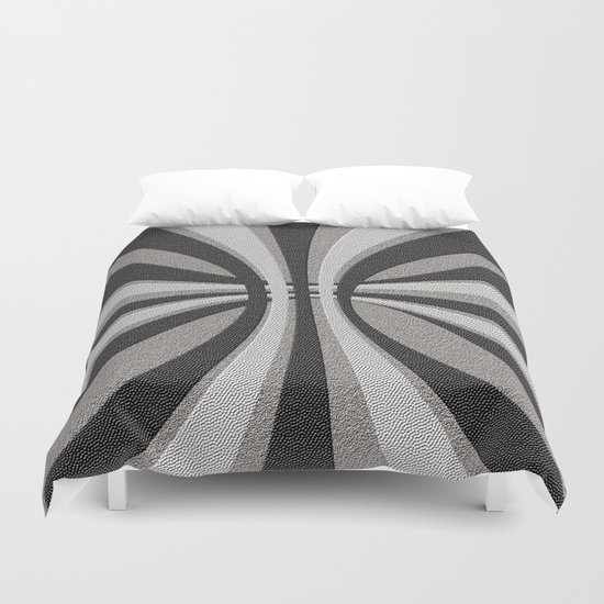 Grayscale Design Duvet Cover