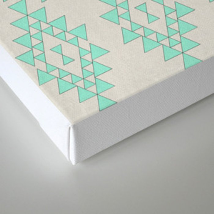 Mint Geo Canvas Print
