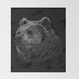 Bear Grizzly Throw Blanket
