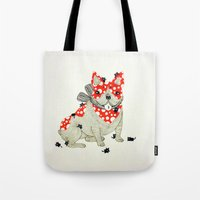 frenchie Tote Bags featuring Frenchie. by ruffgaws