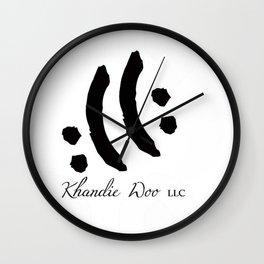 Khandie Woo Logo 'Envoke Emotion' Wall Clock
