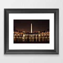 Washington Monument From WWII Memorial Framed Art Print