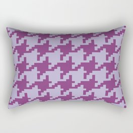 Houndstooth - Purple Rectangular Pillow