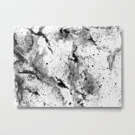 Galaxy (B/w inverted) Metal Print