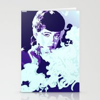 blade runner Stationery Cards featuring RACHAEL // BLADE RUNNER by mergedvisible