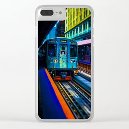 Brown Line Approaching Clear iPhone Case