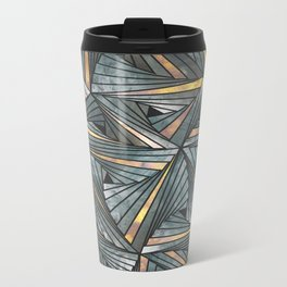 Mesh (Grey and Copper) Metal Travel Mug