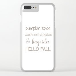 Words of Fall Clear iPhone Case