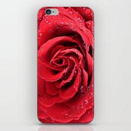 Red Swirl Rose iPhone Skin