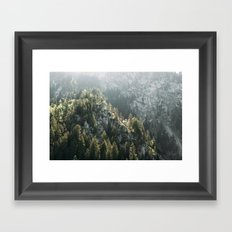 Mountain Lights - Landscape Photography Framed Art Print