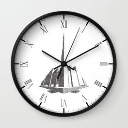 City Block Perspective Stipple Wall Clock