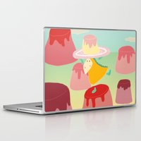 dessert Laptop & iPad Skins featuring Dessert by Loezelot