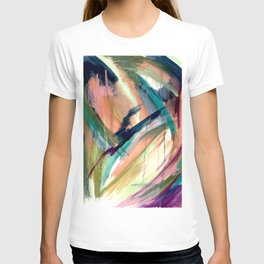 Brave -  a colorful acrylic and oil painting T-shirt
