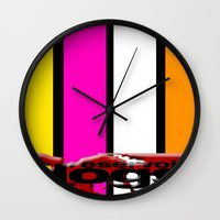 reservoir dogs Wall Clocks featuring Reservoir Dogs by KP Designs