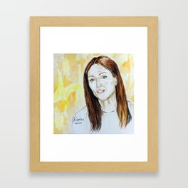 Julianne Moore Portrait Framed Art Print
