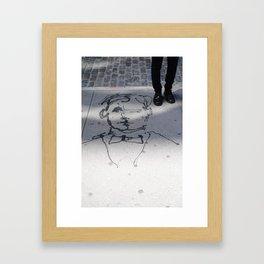 Conversations in The Village  Framed Art Print