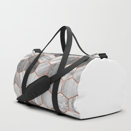 Marble Hexagons Duffle Bag