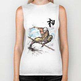 Aang from Avatar the Last Airbender sumi/watercolor Biker Tank