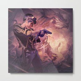 Dragons of Dorcastle Metal Print