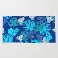 Tropical Blue Beach Towel