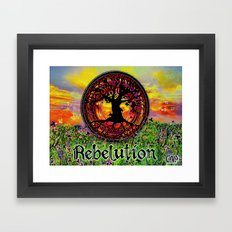 Rebelution Tree of Life Bright Side of Life Beautiful Sunrise/Sunset Landscape Framed Art Print