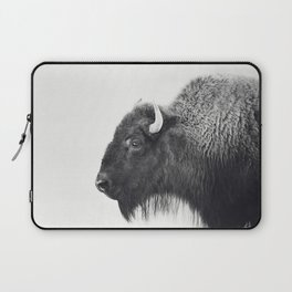 Buffalo Photograph in Black and White Laptop Sleeve