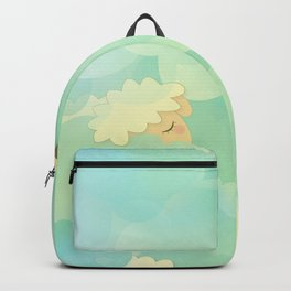 Heavenly Baby Sheep I - Mint Green, Baby Blue Colors Sky Background Backpack