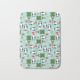Penguin Party Pattern Bath Mat