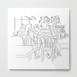 Finger Drawing 93 - Colleagues Metal Print