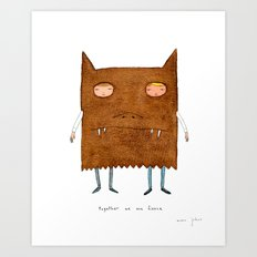 together we are fierce Art Print