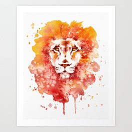 PRIDE (Water colour Lion) Art Print