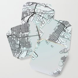 Jersey City, NJ, USA, White, City, Map Coaster