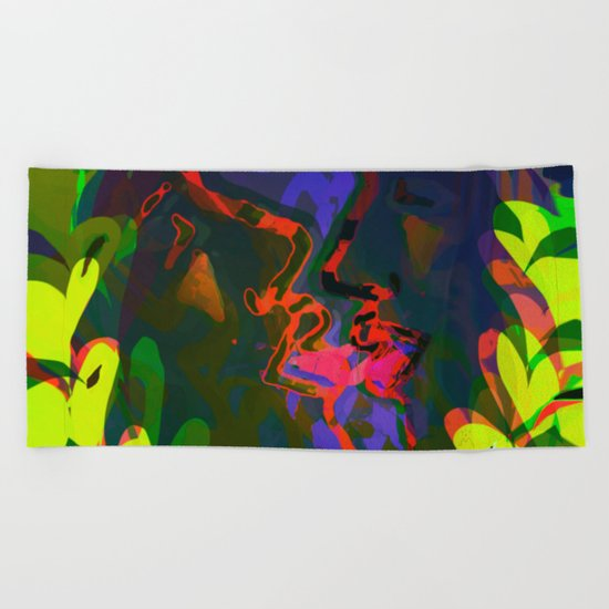 Behind the Leaves / KISS Beach Towel