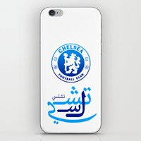 chelsea iPhone & iPod Skins featuring Chelsea by Sport_Designs