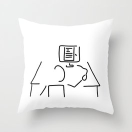 editor technical author script writer Throw Pillow