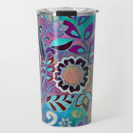 Floral Blues Travel Mug