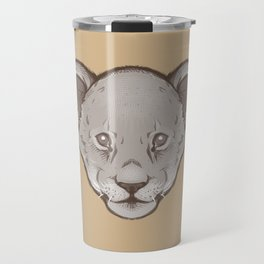 Icons of Africa - Lion Cub (Brown) Travel Mug