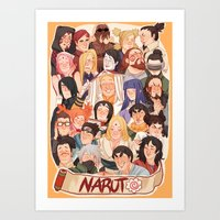 naruto Art Prints featuring Naruto by kuma naru