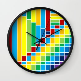 Fuzz Outline Wall Clock