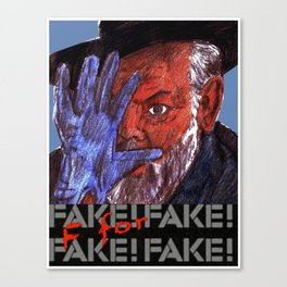 F for Fake Canvas Print