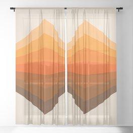 Golden Corner Sheer Curtain