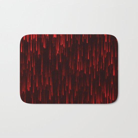 Raining Red Bath Mat