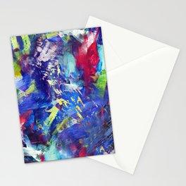 Blue Paint Splash Stationery Cards