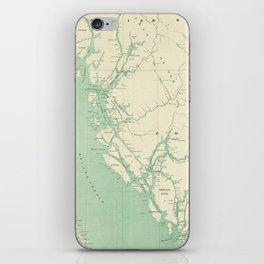 Vintage Map of British Columbia (1893) iPhone Skin